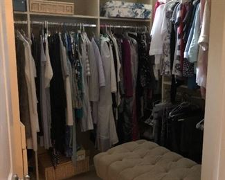 Tons of clothes by per se, cabi, lululemon, athleta, north face, patagonia, etc.