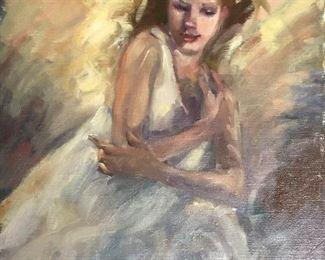 "Barbara Evans 18x24"" unframed canvas"