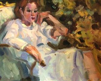 "Barbara Evans 9x12"" unframed canvas."
