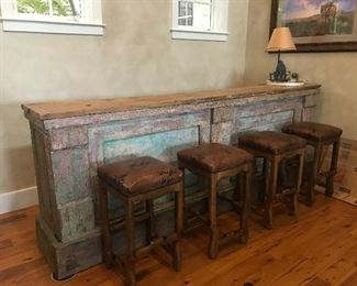 "Vintage 9'9"" long x 45"" tall Bar It's from a Cantina from Mexico"