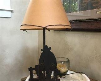 Western metal lamp