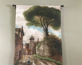 Wall mural on fabric