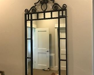 Large heavy metal mirror and there are 2
