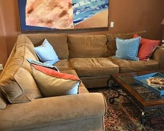 2 pcs sectional couch from Dillard's Gallery Designs