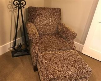 Animal Print chair with Otterman