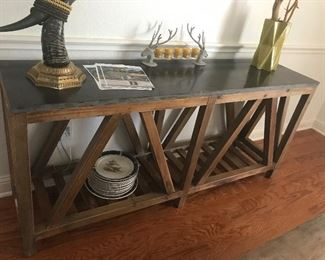 Four Hand Granite top entry table or sofa table