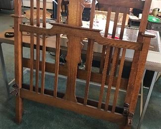 Mission twin bed frame with rails