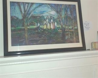"""William Tolliver signed and numbered print, """"Going to Church"""". Original Certificate of Authenticity is with now available with this print. Recently found among owner's papers."""