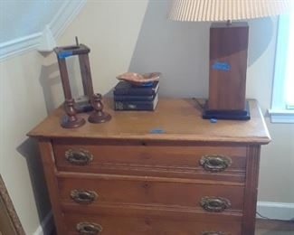 Three drawer chest, 19th century, original hardware