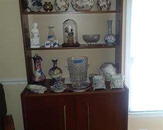 Mid century shelf with storage below