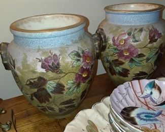 English porcelain vases