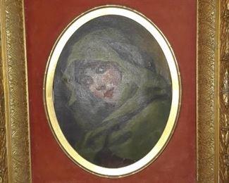 The Assyrian, oil on canvas