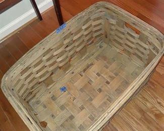 Large wood basket