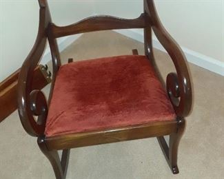 Empire style rocking chair