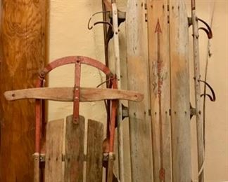 Vintage Sleds (Flexible Flyer) ...Perfect for the Holidays!