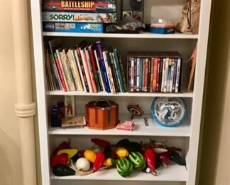 Children's Books, Movies, Games,  and Baskets.