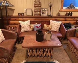 Vintage Jugs, Sofa, Coffee Table, and Love Seats...