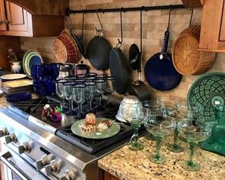 Margarita Stemware, Serving Pieces, Cookware, Copper Molds, Baskets, and more...
