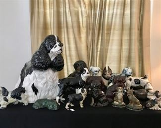 Dogs - iron door stops, bookends, antiques, and more...