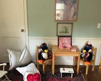 Children's Table and Chairs, Oriental Carpet, and more...