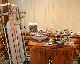 Mexican Sink, Tiles, Cabinet, Vintage Sled, Mexican Crosses,  and more...