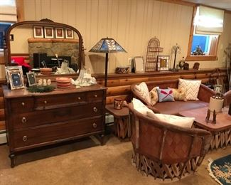 Vintage Dresser, Sofa, and Chairs...