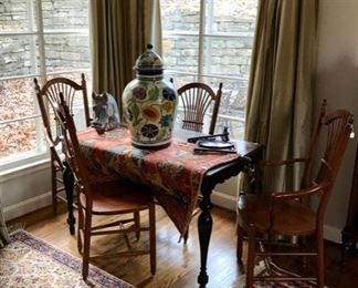 Oriental Carpets, Table and Chairs...