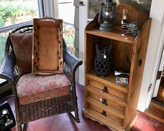 Set of Wicker including Two Chairs, Side Table, and Couch, and more...