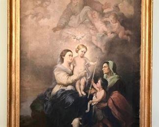 Antique -  Religious Oil Painting
