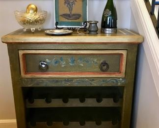 Hand Painted Wine Chest