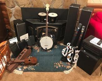 Banjo, Bose Speakers, Oriental Rug, and More...