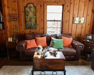 Couch, Unusual Coffee Table (Pair), and more...