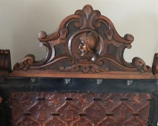Detail of Carving on Pair of Jacobean Style Chairs