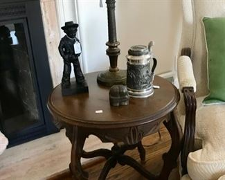 Vintage, Carved Side Table, Stein, and more...