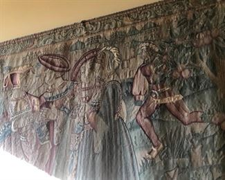 Antique large tapestry
