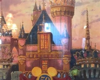 Thomas Kincaid print Disneyland 50th anniversary