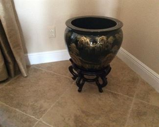 Floor pot with stand