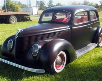 1938 Ford Sedan With 350 Chevy Engine, 350 Auto Turbo Transmission With Air Conditioning, Mileage Showing 21,732