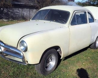 1951 Ford Business Coupe, With 1949 Hood And Grill, Ford 289 Engine With C4 Automatic Transmission, On Original Frame, Ready For Paint, Mileage 98827
