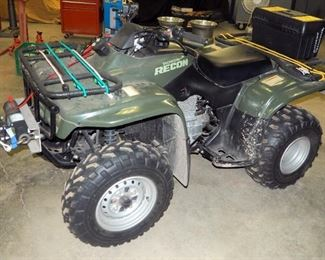 Honda TRX 250, Fourtrax Recon ATV Includes Front Electric Winch, Retractable Tow Strap On Rear, Owners Manual And Extra Key, Always Stored Indoors