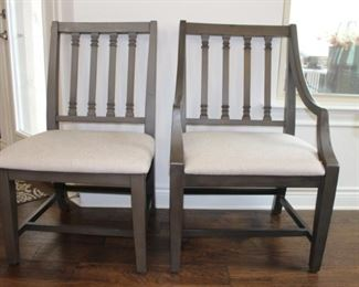 Magnolia Home chairs - 4 of the dining chairs (left) and 2 host chairs (right)