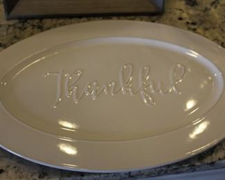 """Thankful"" plate"