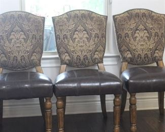 set of 6 leather/upholstered chairs (3/6)