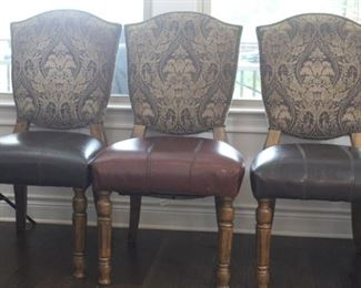 set of 6 leather/upholstered chairs (6/6)