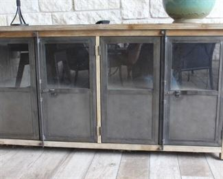 Outdoor entertainment cabinet