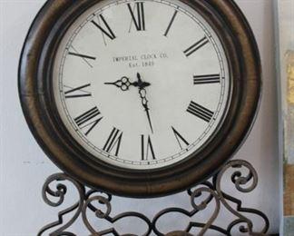 "large clock - 24"" in diameter, 34"" tall"