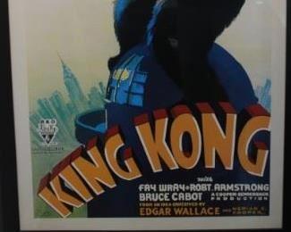 "King Kong framed poster 34"" wide, 60"" tall"