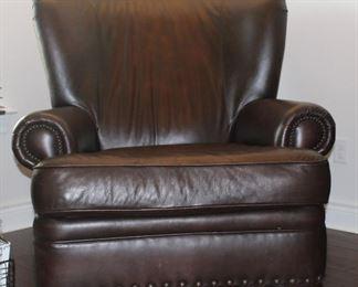 Bernhart brown leather chair