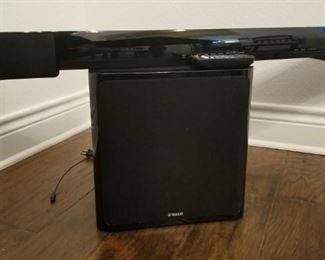 Yamaha sound bar and wireless subwoofer