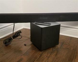 Vizio soundbar and wireless subwoofer